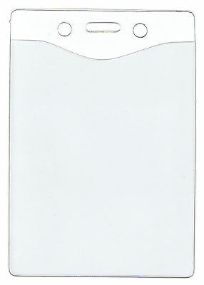"WHOLESALE 10 25 50 100 VERTICAL VINYL ID BADGE HOLDER INSERT SIZE 4"" H x 3""W"