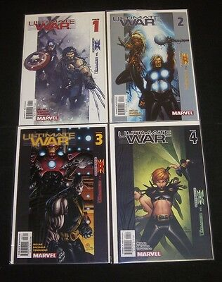 Ultimate War 1-4 (Marvel 2003); VF/NM; Complete series-Free Shipping-Mark Millar