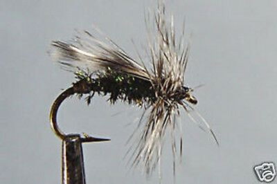 10 x Mouche Peche Sèche Quill Gingembre H14//16//18 dry fly fishing fliegen mosca