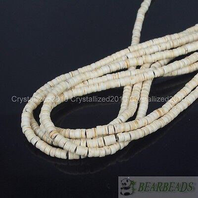 White Howlite Turquoise Gemstone Heishi Spacer Beads 3mm 4mm 6mm 8mm 10mm 16""