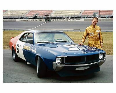1970 AMC Trans Am Sunoco Javelin Automobile Photo Poster Mark Donohue zuc2778-L5