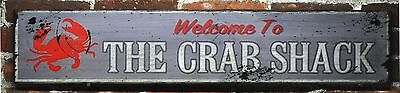 Welcome To The Crab Shack Wood Sign - Rustic Hand Made Vintage Wooden Sign