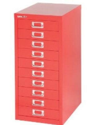 Bisley - 10 Multi Drawer Filing Cabinet - Brand  New - Red