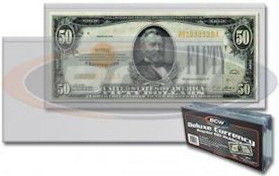 "(50) Semi-Rigid Currency Protectors Holders Regular Dollar Bill 6 3/8"" x 2 7/8"""
