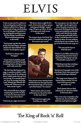 ELVIS PRESLEY - QUOTES POSTER - 24 x 36 SHRINK WRAPPED - IN THEIR WORDS 5457
