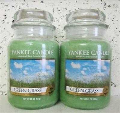 GREEN GRASS Yankee Candle 22 oz Jars  LOT of 2