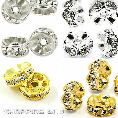 Rondelle Spacer Charm Beads A+++ Czech Crystal Rhinestones For Jewellery Making
