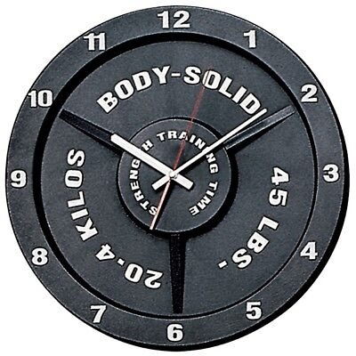 Body Solid STRENGTH TRAINING Gym Time BODYBUILDING WEIGHTLIFTING Wall Clock