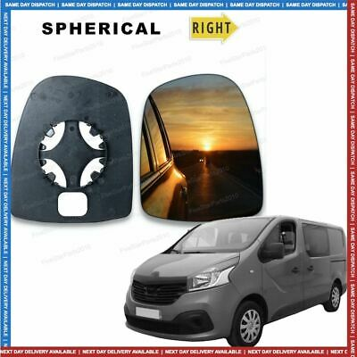 For Renault Trafic 01-14 Right Hand Driver Side Wing Door Mirror Glass
