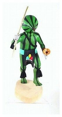 """Hopi 13.5"""" SQUASH Chief Kachina Doll Carved by Andy Sahmie Native Made in USA"""