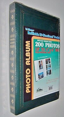 Pioneer BP- 200  4x6 Album Holds 200 Photos + Unlimited Refills: Hunter Green