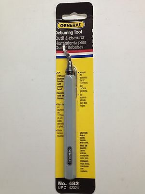 "New General Tools 482 Swivel Head Deburring Two Blades 5"" Aluminum Sale"