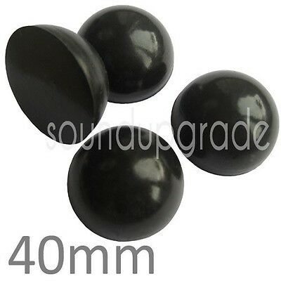 4 x SORBOTHANE 40mm ANTI-VIBRATION HEMISPHERES/FEET. Turntables, Speakers etc.