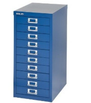 2 x BISLEY - 10 MULTI DRAWER FILING CABINETS - BRAND  NEW - BLUE
