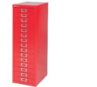 2 x BISLEY - 15 MULTI DRAWER FILING CABINETS - BRAND  NEW - RED