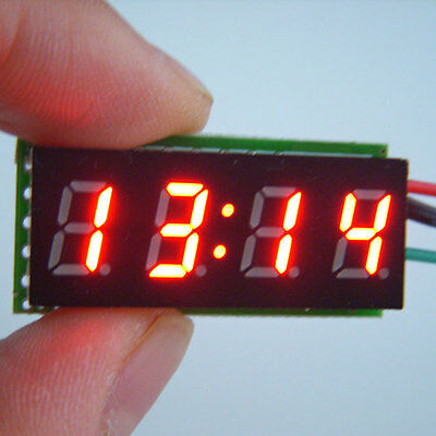 "0.30"" LED Electronic Digital Car Motorcycle Clock Watch red LED DC 12V/24V"