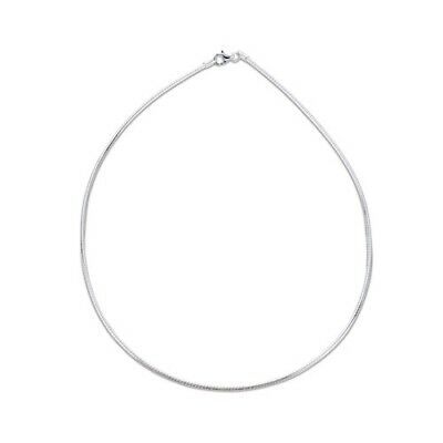1mm SOLID STERLING SILVER 925 ITALIAN OMEGA LINK STYLE CHAIN NECKLACE JEWELLERY