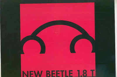 1999 Volkswagen New Beetle Press Kit Brochure mx7438