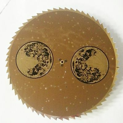 New Brown & Gold Grandfather Clock Moon Dial Replacement Steampunk (C-569)