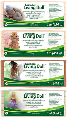 Super Sculpey Living Doll Clay Professional Quality Oven Bake Choose Your Color