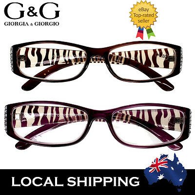 Women Animal Print Fashion Reading Glasses Tiger Purple 1.0 1.5 2.0 2.5 3.0 3.5