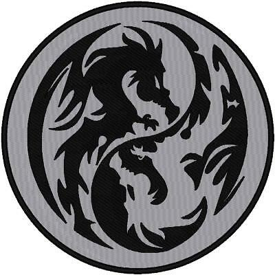 Custom Embroidered Reflective Dragon Patch