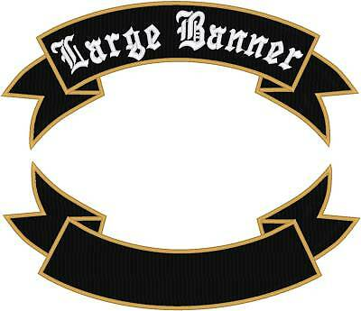 """Custom Embroidered Motorcycle Rocker Banner Patch 14"""""""