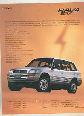 1997 Toyota RAV4 EV Electric Car Brochure mx7502