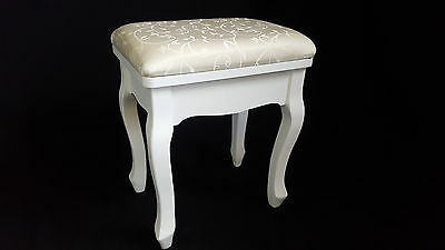 Brand New French Provincial Floral Dressing Stool Chair Chic