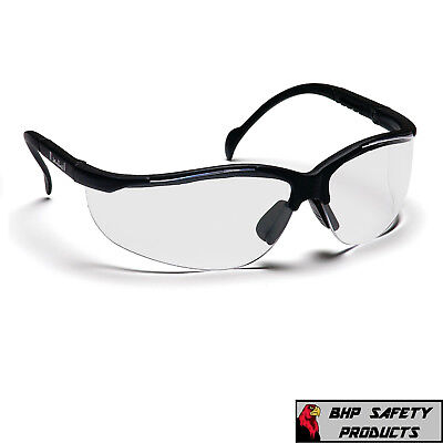 Pyramex Venture II Black Frame Safety Glasses w/ Clear Lens SB1810S