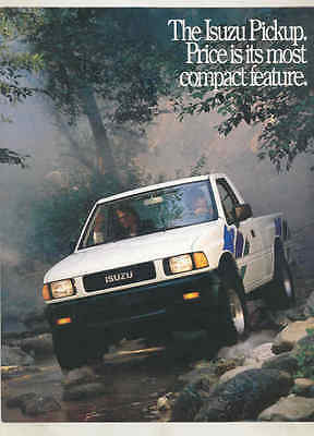1989 Isuzu Pickup Truck Brochure mx7541