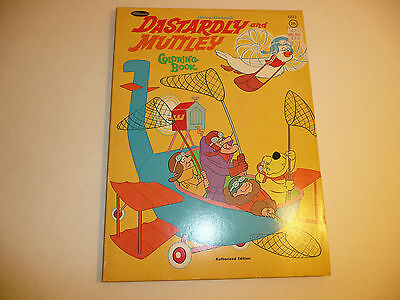 Vintage 1970 Dastardly and Muttley Coloring Book - UNUSED Wacky Races