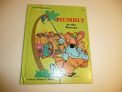 Vintage 1977 Mumbly To The Rescue Hardback Book Hanna Barbera Children's Muttley
