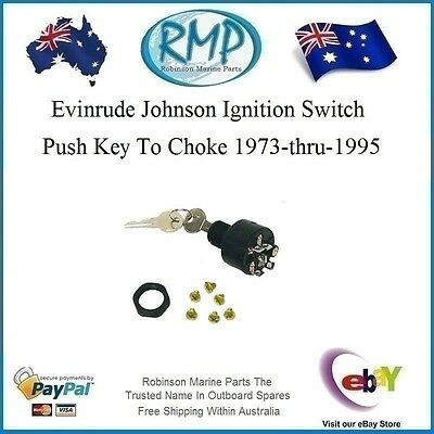 A Brand New Evinrude Johnson Outboard Ignition Switch 1973-thru-1995 # 393301