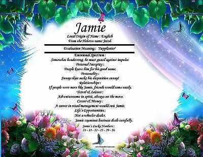 Fantasy Themed Personalized First Name Meaning Room Wall Print