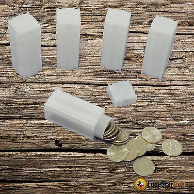 20 CoinSafe QUARTER Square Coin Tube - Coin Supplies