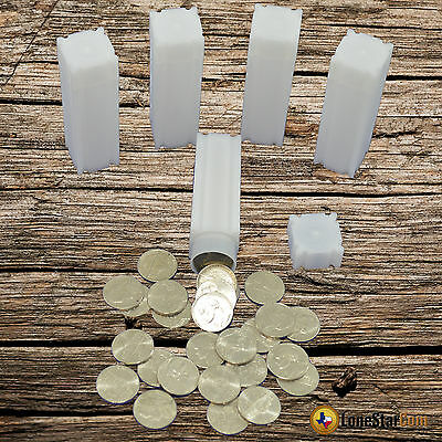 100 Coinsafe Square Coin Tubes For Nickels Jefferson Liberty Buffalo 21mm