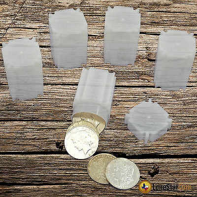 5 CoinSafe SILVER (Large) DOLLAR Square Coin Tube - Coin Supplies