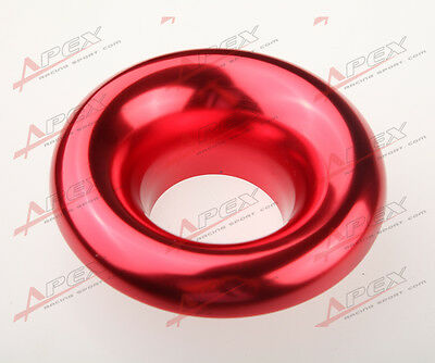 """3.5"""" Universal Velocity Stack For Cold/ram Engine Air Intake/turbo Horn Red"""