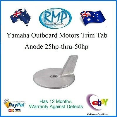 A Brand New Trim Tab Anode Suits Yamaha Outboards 25hp-thru-50hp # CDZ9-44