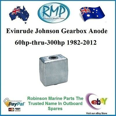 A Brand New Gearbox Anode Suits Evinrude Johnson 60hp-300hp 1982-2012 # CDZ9-19