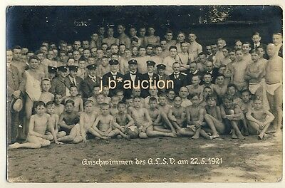 Leipzig LOT OF YOUNG SWIMMERS / JUNGE SCHWIMMER * Vintage 1920s Photo PC Sport