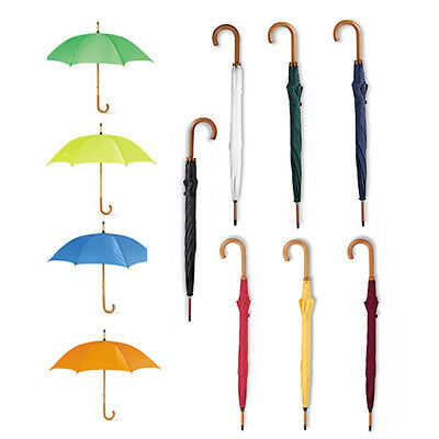 "Classic Umbrella - Wooden Crooked Grip. Manual Opening. (106Cm/ Approx. 42"")"