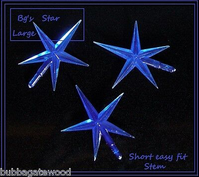 Ceramic Christmas Tree Star Large bulb supply  twist twinkle topper replacement