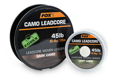Fox NEW Carp Fishing Edges Camo Leadcore Leader *All Types*