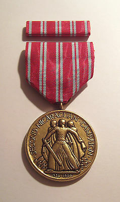 1926 U.S. Navy 2nd Nicaraguan Campaign Medal with RIBBON