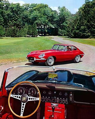 1965 1966 Jaguar XKE 4.2 Coupe Roadster Automobile Photo Poster zc7851-FVKYK9