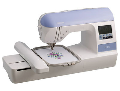 New Brother PE 770 Embroidery Only Sewing Machine USB Monogram & Lettering  Soft