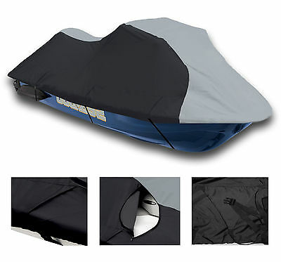 Durable Black/Grey SeaDoo  Bombardier SP - Spi 650 1994-97 SPX Jet Ski PWC Cover