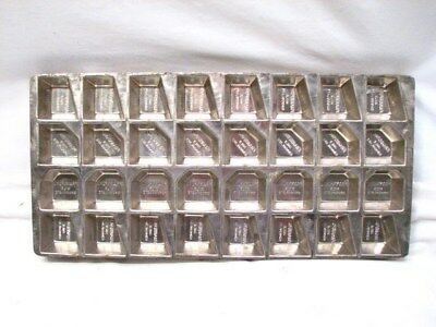Vintage Frankford Chocolate Candy Bar Mold Multi-Shape Metal Tray Pan